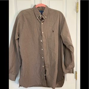 Men's polo button front shirt
